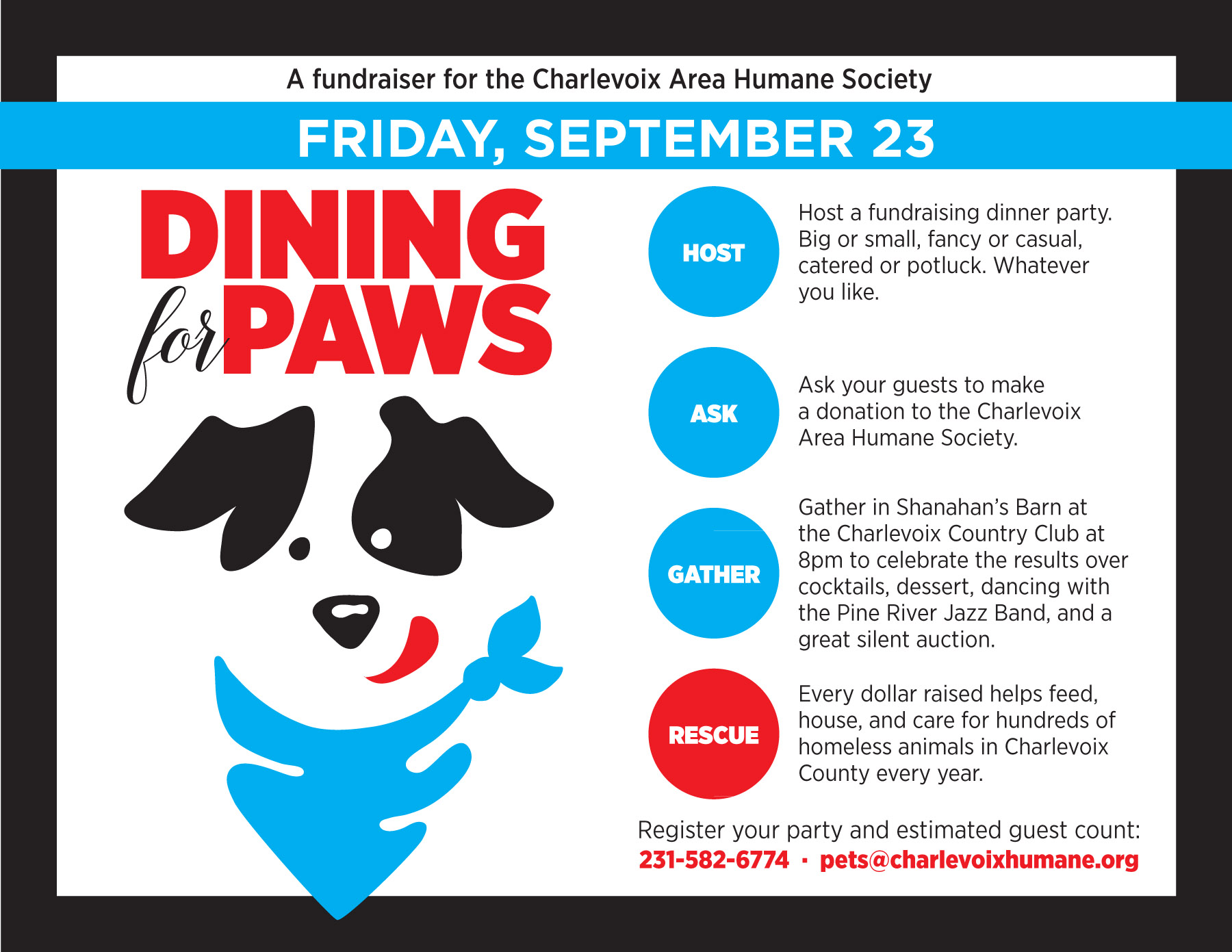 chs diningforpaws poster