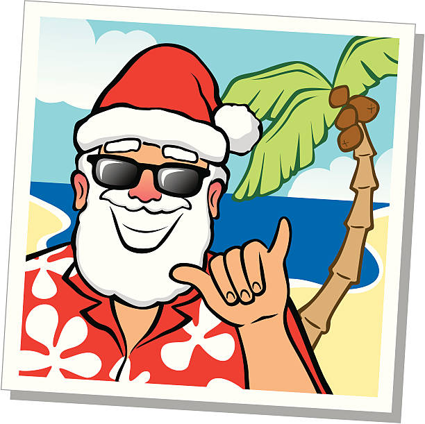 hawaiian santa